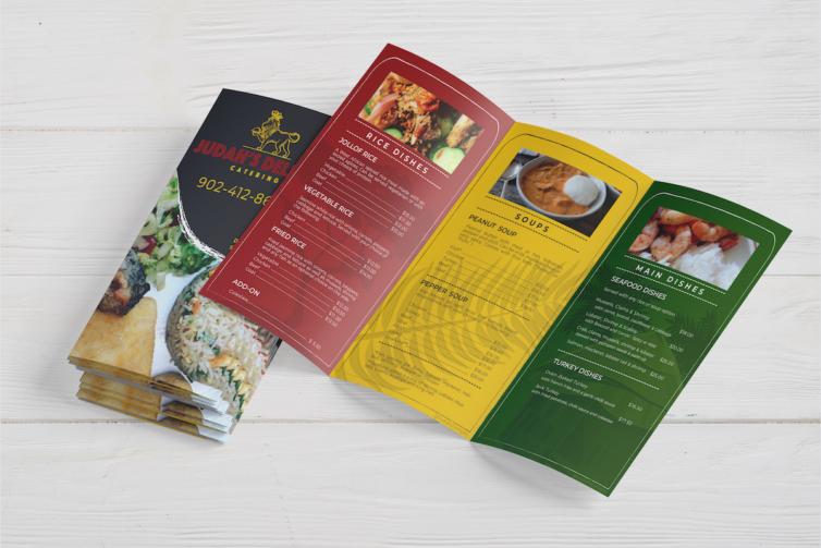 Judah's Delight Catering Logo & Advertising
