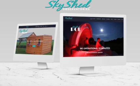 SkyShed Observatories Website and Logo Redesign